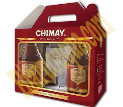 Hộp quà bia Chimay đỏ 4 chai