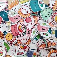 sticker kawaii food