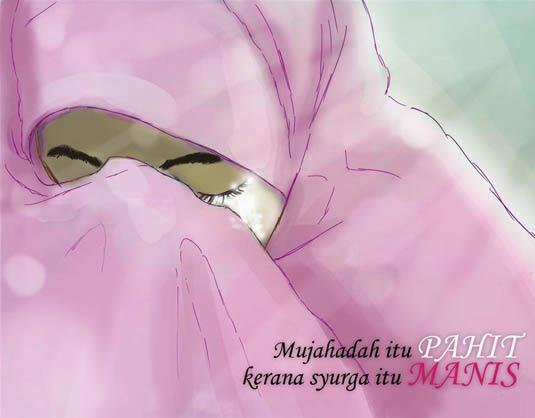 Gambar Kartun Muslimah Yg Sedang Menangis
