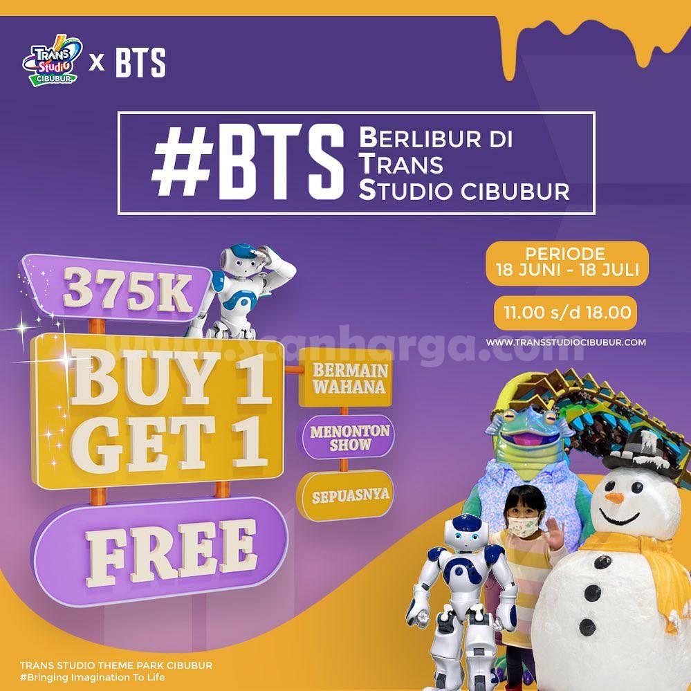 Trans Studio Cibubur X BTS - Beli 1 Gratis 1