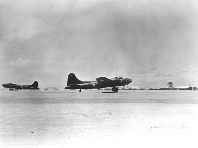 B-17E taking off at Midway, 31 May 1942 worldwartwo.filminspector.com