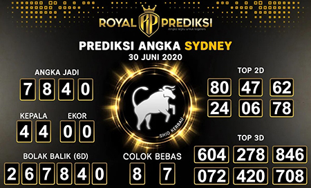 Royal Prediksi Sydney Selasa 30 Juni 2020