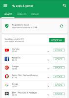 cara update app di google play store