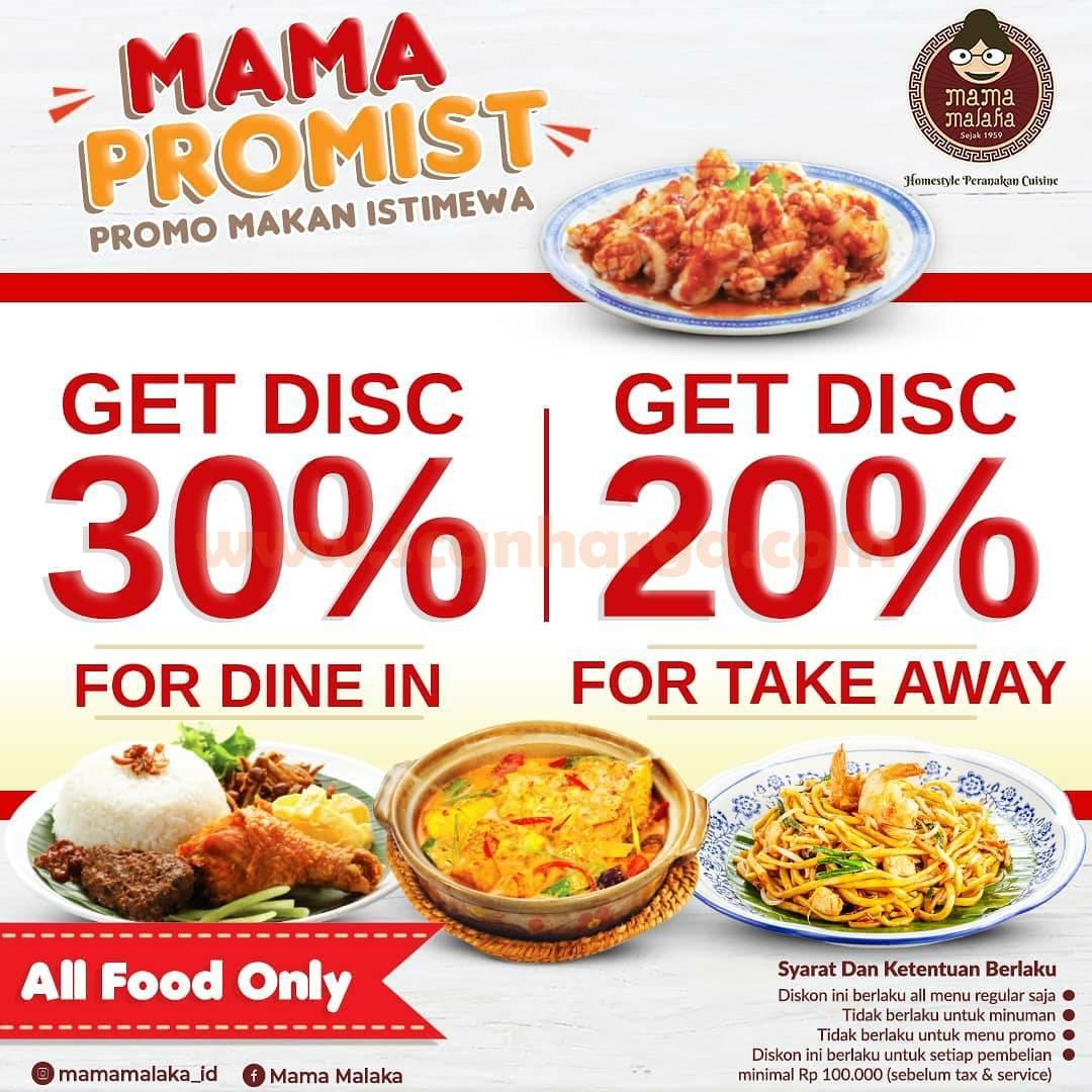 MAMA MALAKA Promo Mama Promist Discount 30%