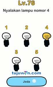 Kunci jawaban Nyalakan Lampu Nomor 4 Brain Out