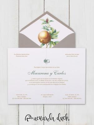 invitación boda granada