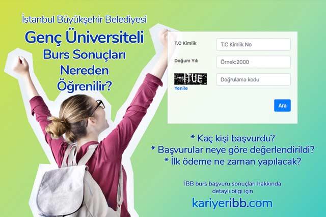 İBB Genç Üniversiteli burs sonuçları açıklandı. İBB burs sonuçlarını öğrenme ekranı hakkında detaylı bilgi kariyeribb.com'da!