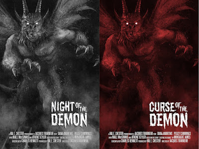 Night of the Demon / Curse of the Demon Screen Print by Richard Hilliard x Mad Duck Posters