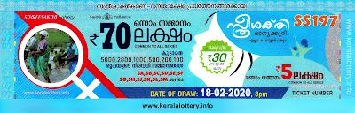 "KeralaLottery.info, ""kerala lottery result 18.02.2020 sthree sakthi ss 197"" 18th February 2020 result, kerala lottery, kl result,  yesterday lottery results, lotteries results, keralalotteries, kerala lottery, keralalotteryresult, kerala lottery result, kerala lottery result live, kerala lottery today, kerala lottery result today, kerala lottery results today, today kerala lottery result, 18 2 2020, 18.2.2020, kerala lottery result 18-2-2020, sthree sakthi lottery results, kerala lottery result today sthree sakthi, sthree sakthi lottery result, kerala lottery result sthree sakthi today, kerala lottery sthree sakthi today result, sthree sakthi kerala lottery result, sthree sakthi lottery ss 197 results 18-02-2020, sthree sakthi lottery ss 197, live sthree sakthi lottery ss-197, sthree sakthi lottery, 18/2/2020 kerala lottery today result sthree sakthi, 18/02/2020 sthree sakthi lottery ss-197, today sthree sakthi lottery result, sthree sakthi lottery today result, sthree sakthi lottery results today, today kerala lottery result sthree sakthi, kerala lottery results today sthree sakthi, sthree sakthi lottery today, today lottery result sthree sakthi, sthree sakthi lottery result today, kerala lottery result live, kerala lottery bumper result, kerala lottery result yesterday, kerala lottery result today, kerala online lottery results, kerala lottery draw, kerala lottery results, kerala state lottery today, kerala lottare, kerala lottery result, lottery today, kerala lottery today draw result,"