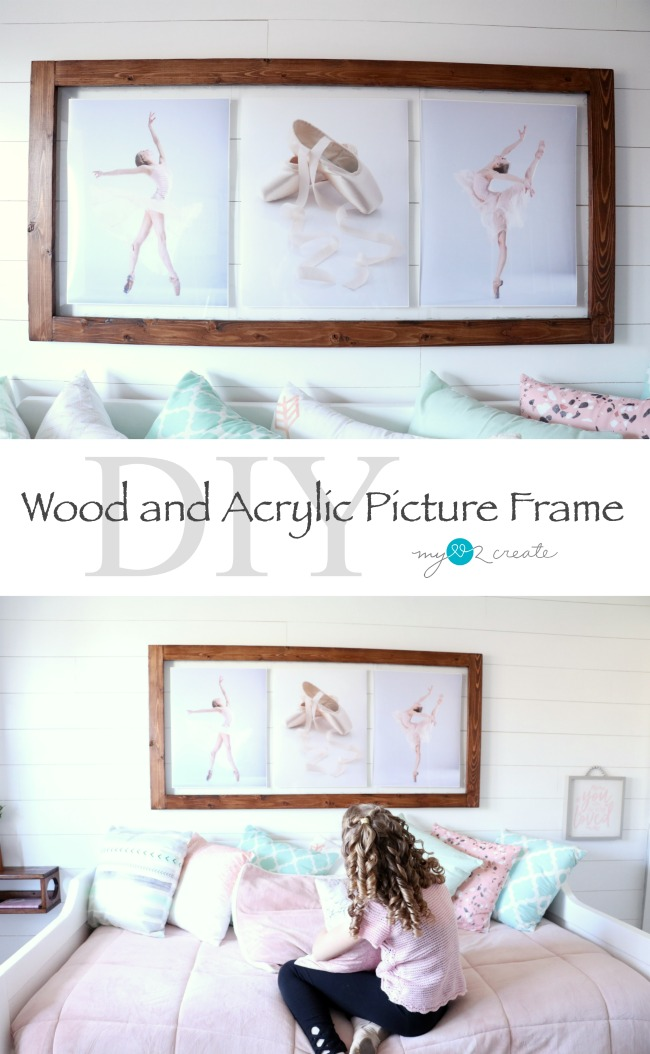 How to make a DIY Wood and Acrylic Floating Picture Frame tutorial at MyLove2Create