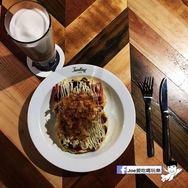 IMG 0307 - 【台中甜點】jamling Cafe 台中 - 來自東京鬆鬆軟軟入口即化的鬆餅 貓王鬆餅 吃起來有花生的甜 培根的鹹 ~一整個超級特別!!