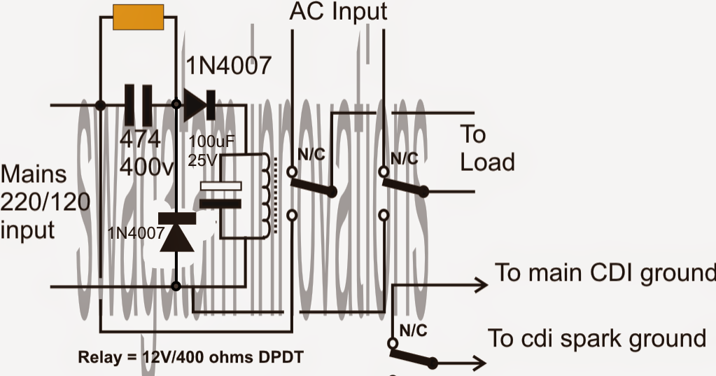 automatic changeover circuit electronic circuits and diagram