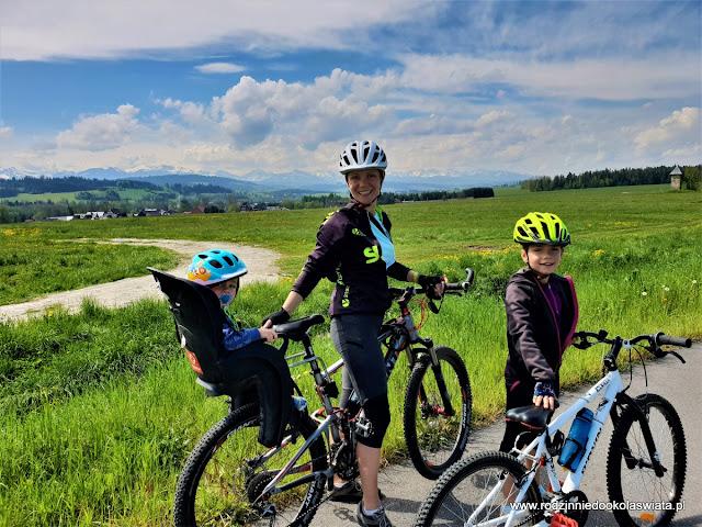 Tatry z dziećmi- Szlak rowerowy wokół Tatr z Nowego Targu do Trzciany