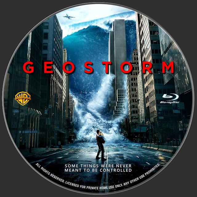 Geostorm Bluray Label