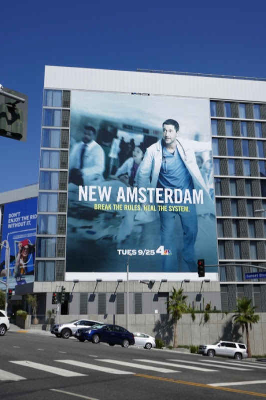 New Amsterdam series premiere billboard