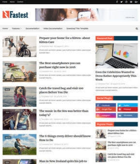 FASTEST BLOGGER TEMPLATE 2020