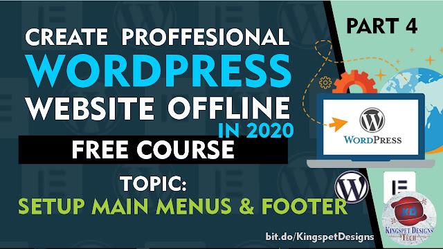 How to Setup WordPress Website Header Menus and Footer