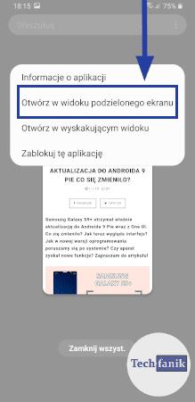 Jak podzielić ekran w One UI?