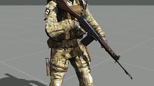 Arma3用HLC MOD Battle RifleパックのFAL