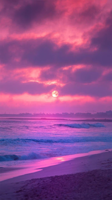 iphone Aesthetic pink sunset wallpaper