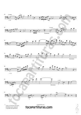 Hoja 2  Trombón y Bombardino Partitura de Meditación Sheet Music for Trombone and Euphonium Music Scores PDF/MIDI Clave de Fa