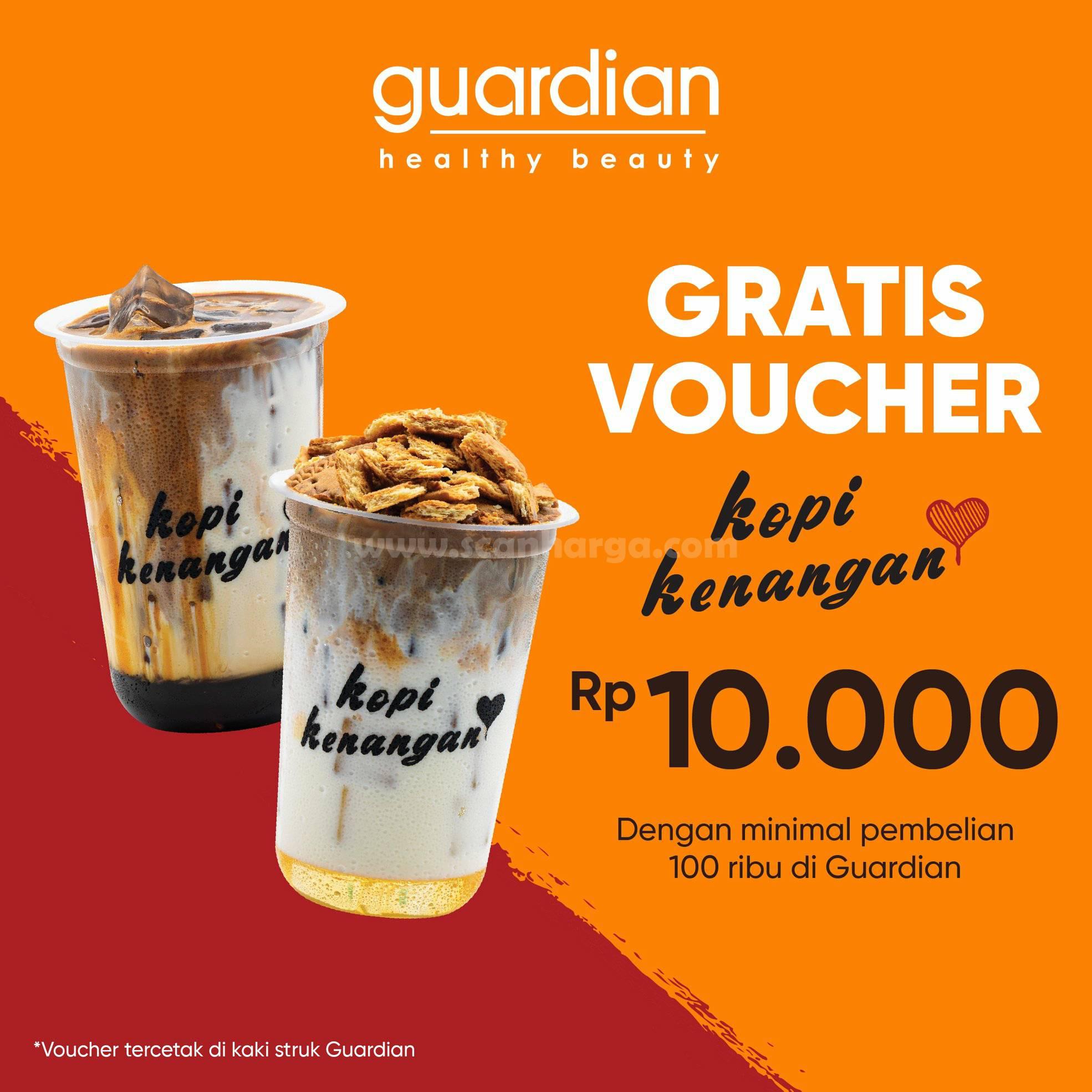 Guardian Promo Gratis Voucher Kopi Kenangan Rp 10.000