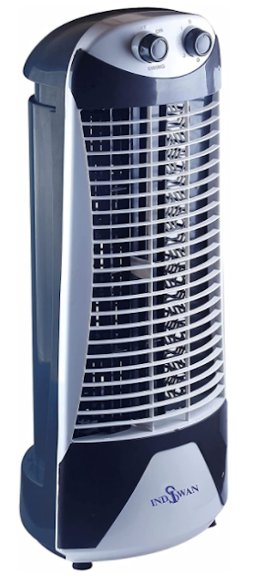 INDISWAN High Speed Tower Fan With 35 Feet Air Delivery, 3 Speed 2 Way Air deflection & High Speed 2250 m3/hr