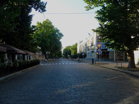Полтава. Ул. Соборности. Пешеходная зона