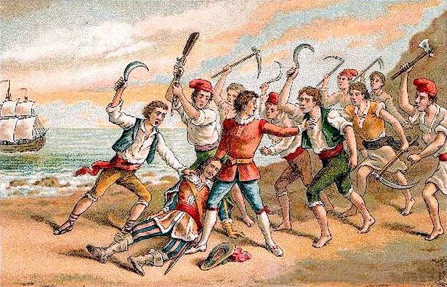 Assassinat del virrei pels segadors Corpus de Sang