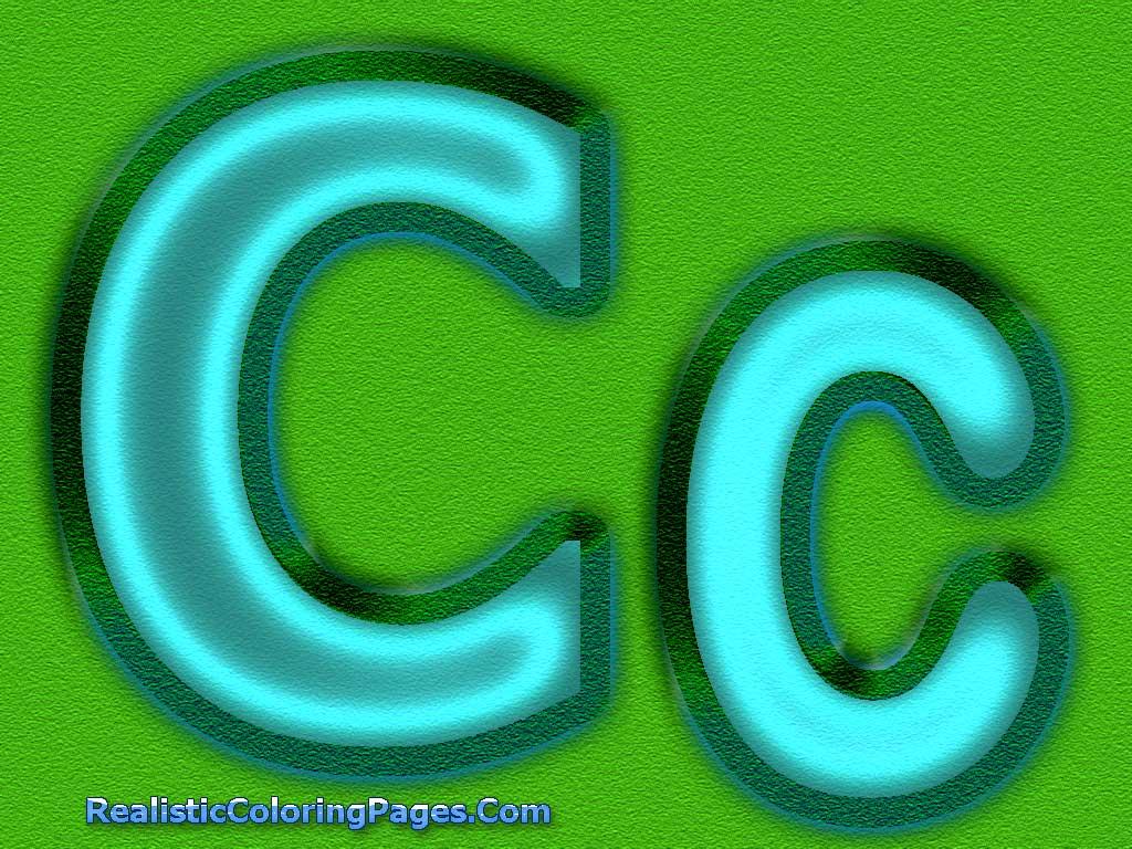 C Letters Alphabet Coloring Pages