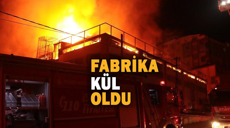 Alüminyum fabrikasında büyük yangın!
