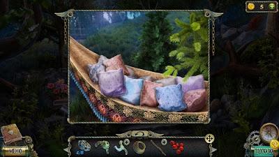 лежат подушки в гамаке в игре тьма и  пламя рожденный огнем