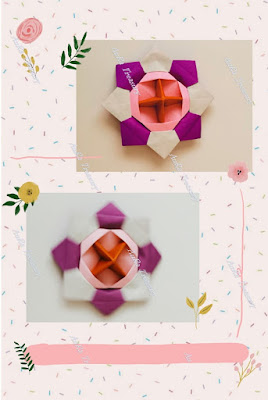 step by step DIY origami spinning top
