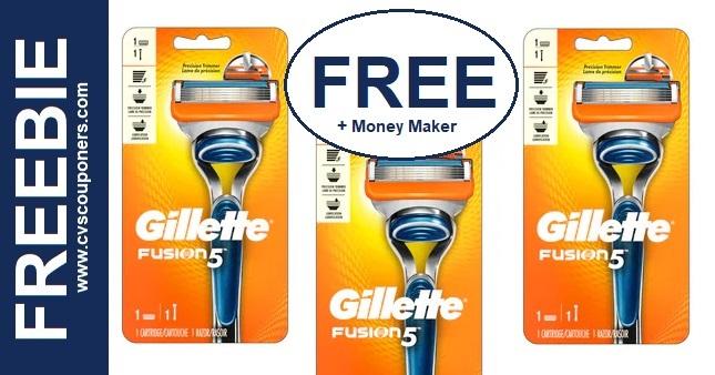 FREE Gillette Razor CVS Deal 12-6-12-12