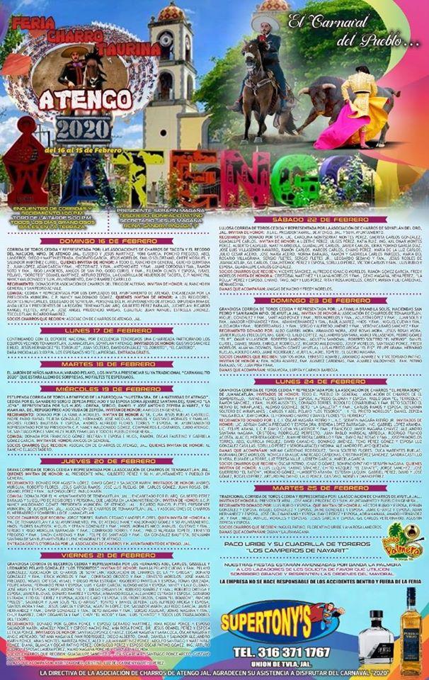 Feria Charrotaurina Atengo 2020