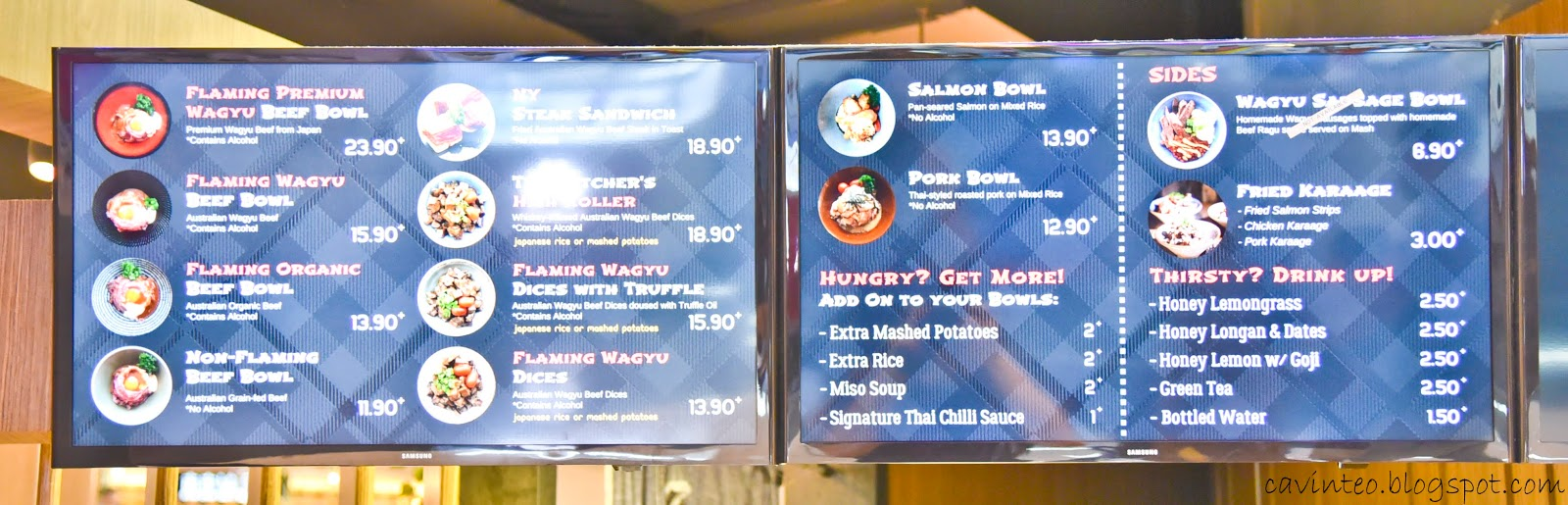 Entree Kibbles: Flaming Wagyu Beef Bowl @ The Butcher\'s Kitchen ...
