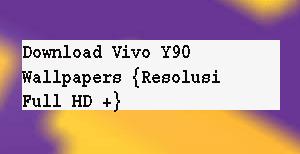 Download Vivo Y90 Wallpapers {Resolusi Full HD +} 1