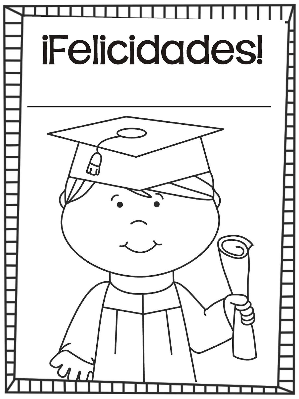 Graduacion Hojas Para Colorear