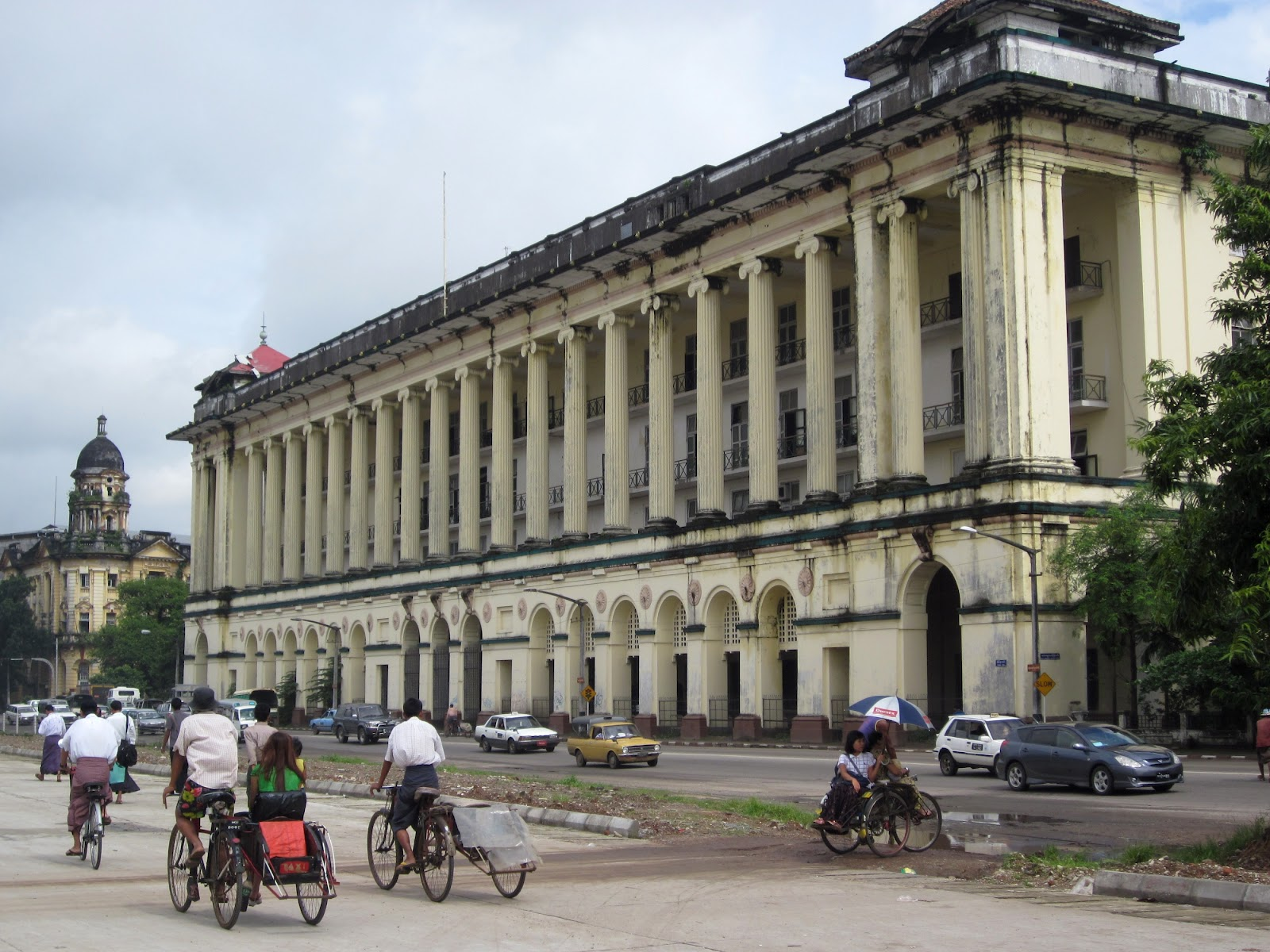 sofaer co building yangon grey sofa beige walls travel and adventures myanmar burma a voyage to