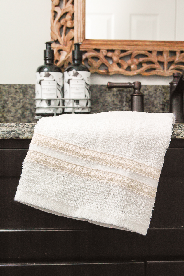 Dollar Tree towels turned farmhouse decor