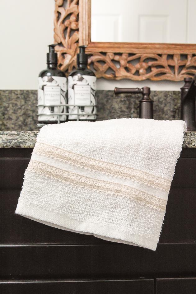 Dollar Tree towels turned farmhouse decor