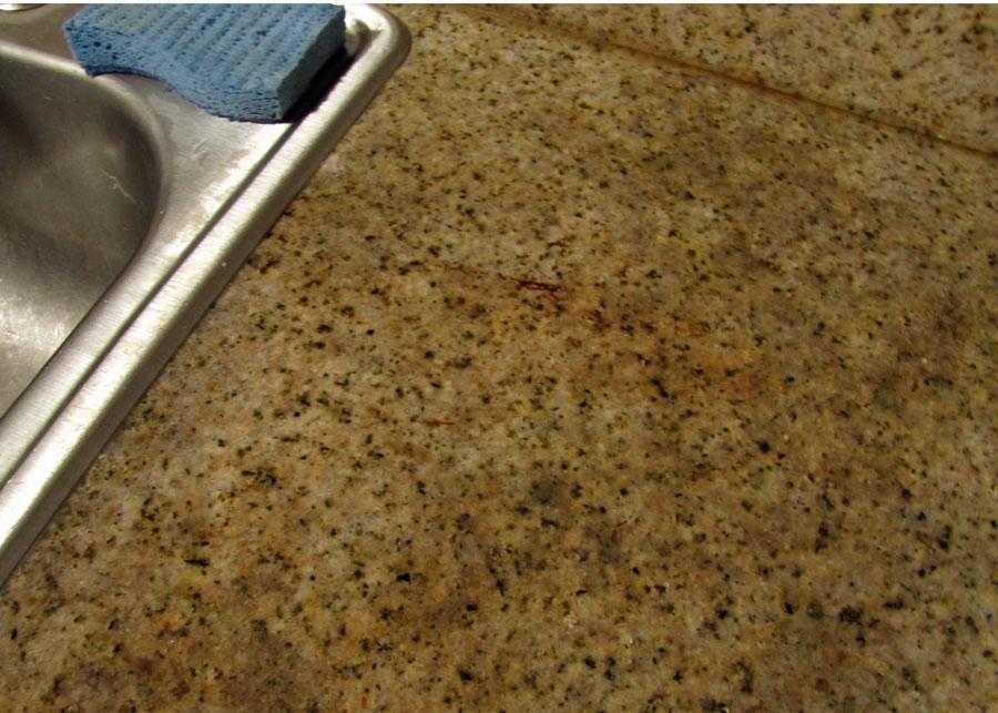 Smells Like Food in Here: Clean Rust Stain from Granite ... on Black Granite Stain  id=86797