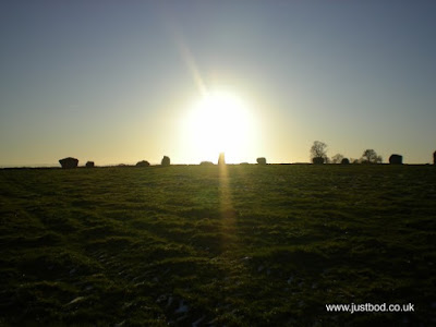 December sun setting over Long Meg & her daughters, Cumbria