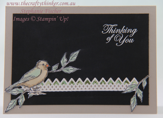 #thecraftythinker #stampinup #masculinecard #cardmaking #freeasabird , Free As A Bird, Masculine Card, Paper-piecing, Delicate Lace dies, Stampin' Up Australia Demonstrator, Stephanie Fischer, Sydney NSW