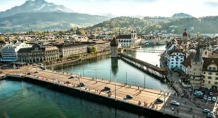 Tempat Wisata Paling Indah Untuk Dikunjungi Di Negara Swiss Lucerne dan Danau Lucerne / Lucerne and Lake Lucerne.