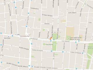 Clasico El Dante Ñuñoa mapa ubicacion