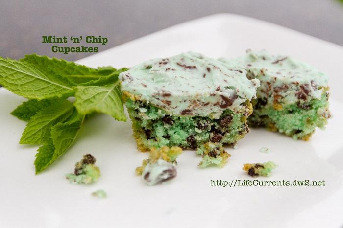 Mint N Chip Cupcakes
