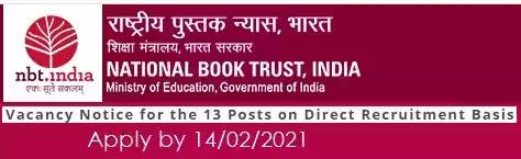 National Book Trust Job Vacancy Recruitment 2021