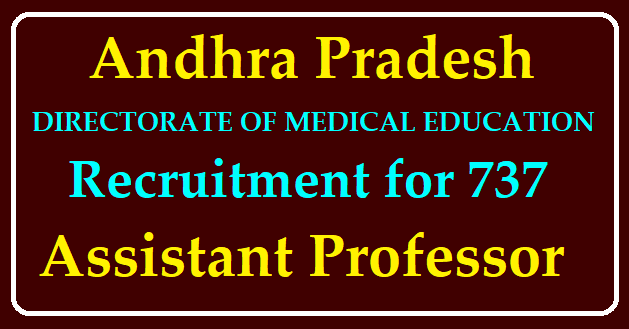 AP DME Recruitment for Assistant Professor Apply Online @dme.ap.nic.in /2020/06/AP-DME-Recruitment-for-Assistant-Professor-Apply-Online-dme.ap.nic.in.html