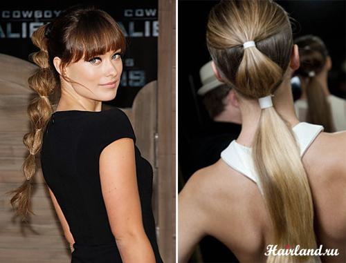 Східна дівчина з пишною шевелюрою і товстим хвостом з кількома гумками на  різному рівні. Така зачіска для довгого волосся добре підійде і ... 780c815736c1c